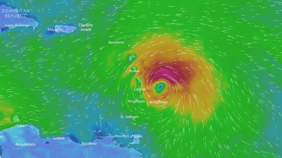 Циклон «Мария» наКарибских островах получил наивысшую категорию мощности